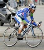 Cycliste Adrian Palomares d'Andalousie Caja Grenade Images libres de droits
