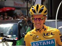 Cycliste Alberto Contador Photos stock