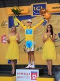 Cycliste Alberto Contador Photos libres de droits