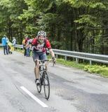 Cycliste amateur heureux Images stock