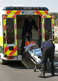 Cycliste blessé photographie stock