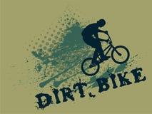 ?claboussez le cycliste illustration libre de droits