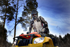Cycliste d'ATV Photo libre de droits