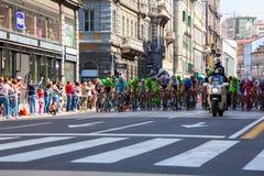 Cycliste, d'Italia de chèques postaux Photo libre de droits