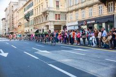 Cycliste, d'Italia de chèques postaux Photo stock