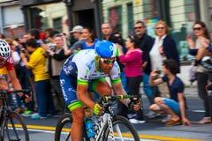 Cycliste, d'Italia de chèques postaux Images libres de droits