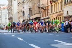 Cycliste, d'Italia de chèques postaux Photographie stock libre de droits