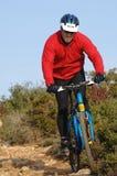 Cycliste dans l'action Photos stock