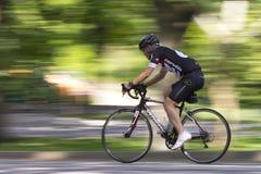 Cycliste dans le Central Park Photo libre de droits