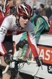 Cycliste dans le chemin Images libres de droits