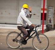 Cycliste de Balinese Photo stock