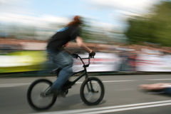 Cycliste de BMX Images stock