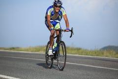 Cycliste de Khrypta Andriy d'Ukraine Photographie stock
