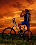 Cycliste de montagne Image libre de droits