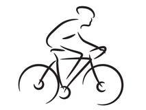 Cycliste de montagne illustration de vecteur