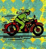 Cycliste de moteur Photo libre de droits