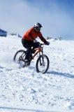 Cycliste de neige Image libre de droits