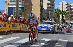 Cycliste de procès de temps Photos libres de droits