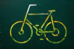 Cycliste de signe Images libres de droits