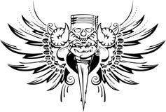 Cycliste de tatouage illustration de vecteur