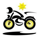 Cycliste de vitesse Photographie stock libre de droits