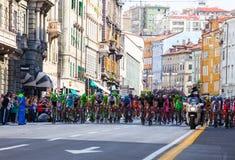 Cycliste, dItalia de chèques postaux Image libre de droits