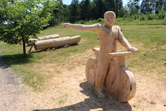 Cycliste en bois Image stock