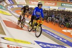 Cycliste en gros plan Images libres de droits