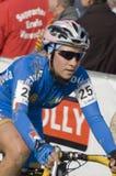 Cycliste en travers cyclo Photo libre de droits