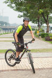 Cycliste extrême Image stock