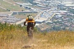 Cycliste extrême Photos stock