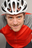 cycliste intense Image libre de droits
