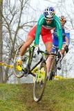 Cycliste Marco Fontana de pays croisé photos libres de droits