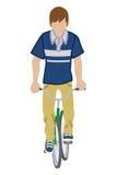 Cycliste masculin - vue de face Photo libre de droits