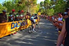 Cycliste professionnel Salvatore Puccio Team Sky Image stock