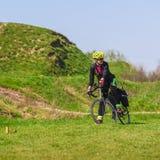 Cycliste sportif de femme Image stock