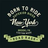 Cycliste supérieur New York Photos stock