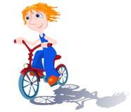 Cycliste sur le blanc. Image stock