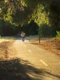 Cycliste sur le journal Image libre de droits