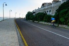 Cycliste sur le vélo de route Images libres de droits