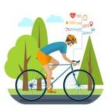Cycliste sur le vélo de sports illustration stock