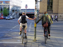 Cycliste urbain Photographie stock libre de droits