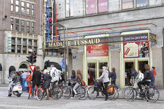 Cyclistes à Amsterdam, Pays-Bas Images stock