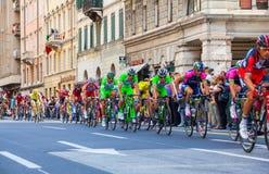 Cyclistes, d'Italia de chèques postaux Image libre de droits