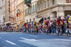 Cyclistes, d'Italia de chèques postaux Photographie stock