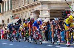 Cyclistes, d'Italia de chèques postaux Photos libres de droits