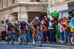 Cyclistes, d'Italia de chèques postaux Photo stock
