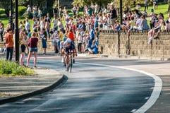Cyclistes dans la visite De Yorkshire 2018 Image libre de droits