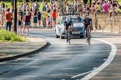 Cyclistes dans la visite De Yorkshire 2018 images libres de droits