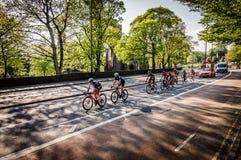 Cyclistes dans la visite De Yorkshire 2018 image stock